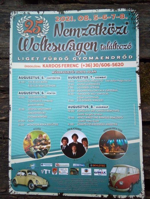 25. Nemzetközi Volkswagen találkozó Gyomaendrőd